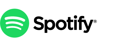 the spotify logo with differently colored icon & wordmark components