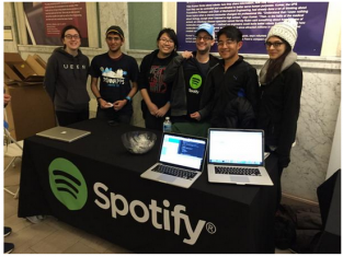 Photo of Spotify booth at PennApps 2016